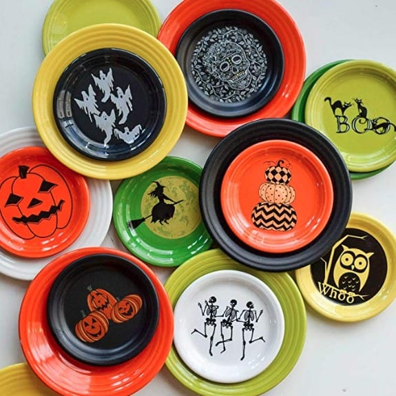 American Made Halloween Decor and Party Must Haves: Fiesta Halloween dishware #madeinUSA #USAlovelisted #Halloween