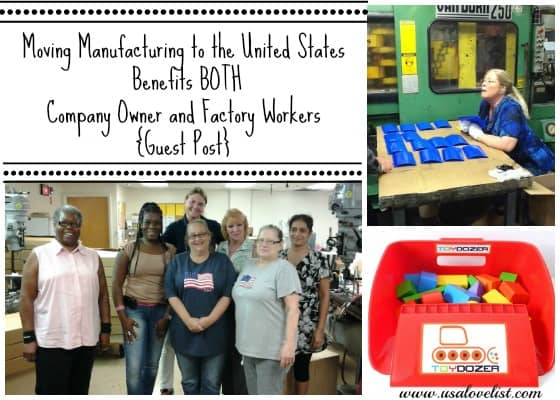 Moving Manufacturing To The United States Benefits BOTH Company Owner and Factory Workers {Guest Post}