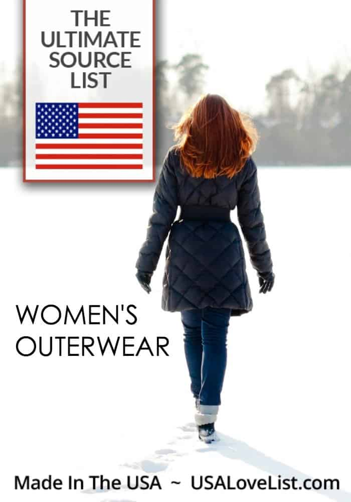 Ameican made women's outerwear | Coats, leather jackets, peacoats, ski jackets all made in USA