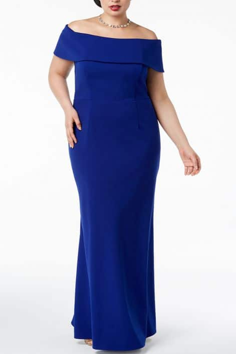 American Dresses and Gowns: Plus Size from Betsy & Adam #madeinUSA #usalovelisted #plussize #fashion #party #holiday #dresses