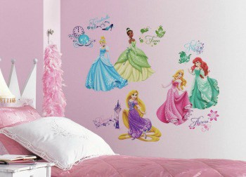 Princess Gifts: RoomMates princess wall decals