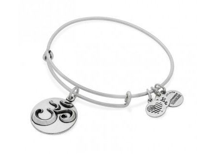 Gifts for yoga lovers: Alex and Ani Om charm bangle