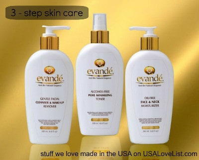 The Evandé Beautifying System delivers Simple, Elegant, Natural Skin Care You can trust, made in the USA