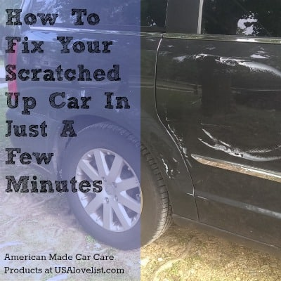 how to fix little scratch on car