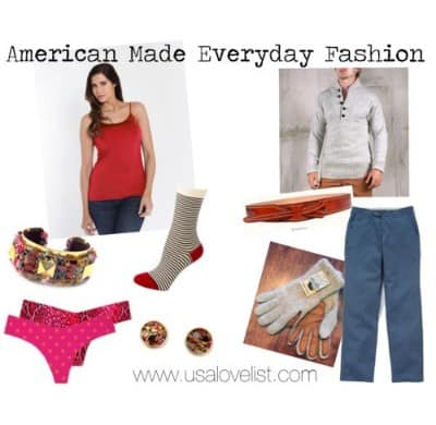 American Made Fashion via USALoveList.com
