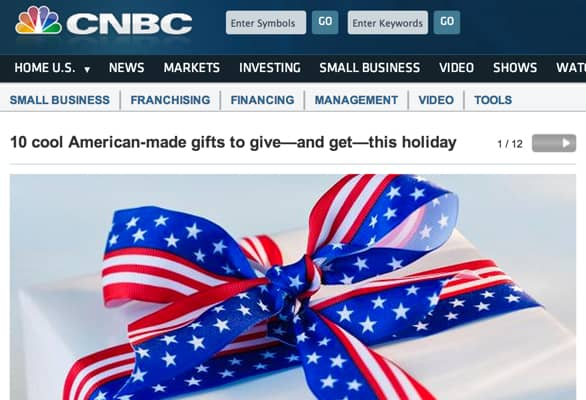 USA Love List Contributes to CNBC's Made in USA Gift Guide