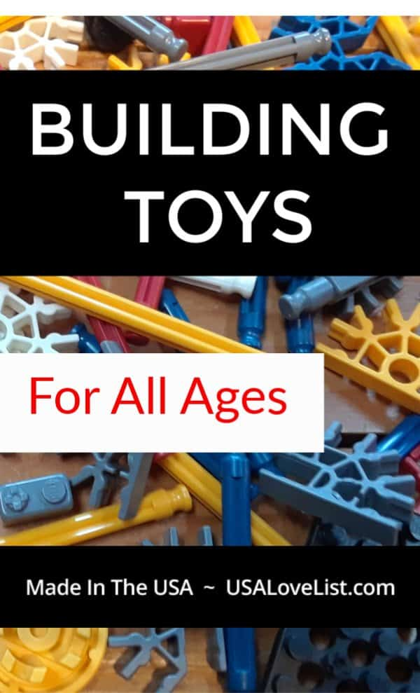 Made in USA Building Toys For Baby to Teens #usalovelisted #gifts #toys #STEM #madeinUSA