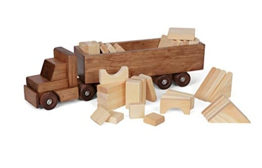 Made in USA Building Toys: Lapp's Toys Amish wooden toys #usalovelisted #toys