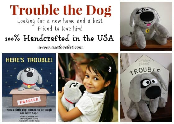 Trouble The Dog - American Made Stuffed Animal For Kids