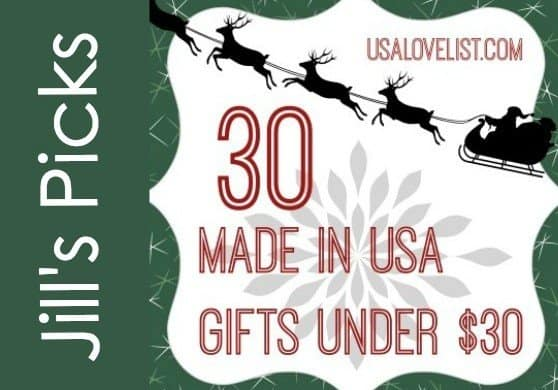 USAlovelist.com's editor lists her favorite affordable American made gifts.