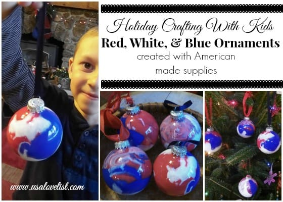 Holiday Crafting With Kids: Red, White and Blue Ornaments, Made in USA Materials