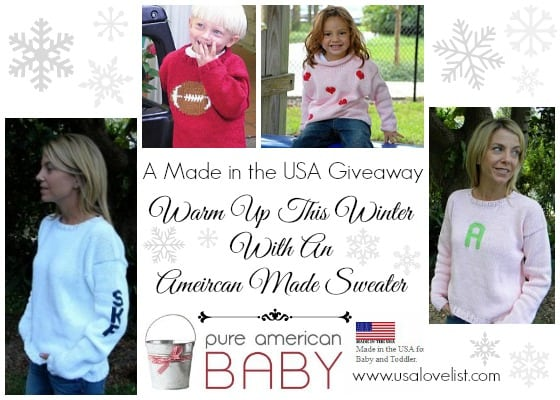 Giveaway: Warm up this winter with an American made sweater!