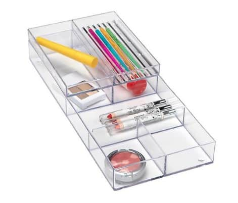 Makeup organizing ideas: storage trays from the Container Store #usalovelisted