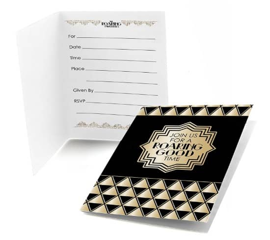 1920s Party or Great Gatsby Themed Invitations #usalovelisted #madeinUSA