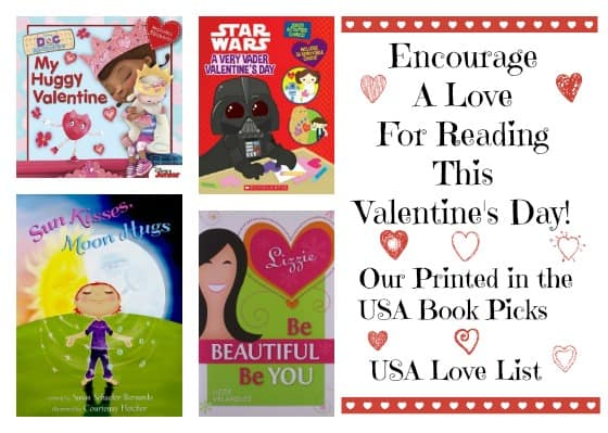 Encourage a Love for reading this Valentine's Day! Printed in the USA books for all ages: Valentine's Day gifts for kids