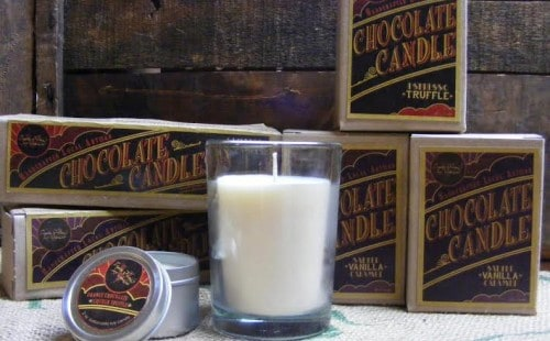 Natural Candles From Vance Family Soy Candles are made in USA in Washington State via USALoveList.com - Enter to Win Artisan Chocolate Candles Now!