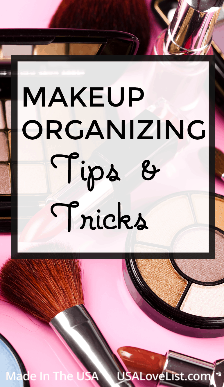 Makeup organizing ideas with American made products #usalovelisted