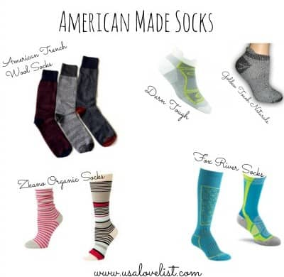 American Made Sock Source Guide on USALoveList.com
