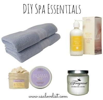 DIY Spa Essentials on USALoveList.com