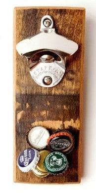 Eco Friendly Valentine's Day gift- reclaimed bourbon barrel bottle opener #ecofriendlygifts #usalovelisted