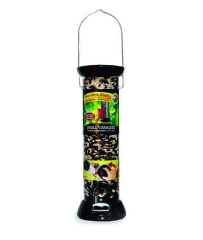 Feeding wild birds: Droll Yankee tube bird feeder | Keeps bird seed dry | Assembled in USA