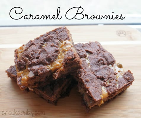 Caramel Brownie Goodness Made With A KitchenAid Stand Mixer