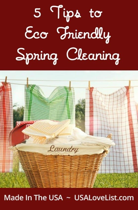 Eco Friendly Spring Cleaning Tips | American made products | Made in USA Spring cleaning tips