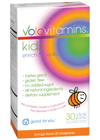 Volo Vitamins kids | Flavor stick packs | Children's vitamins | Gluten free | Made in USA | Morning routine must have!