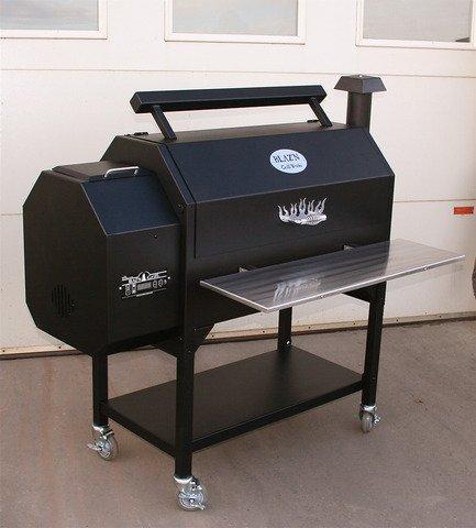 American made Blaz'n Grill Works pellet grill