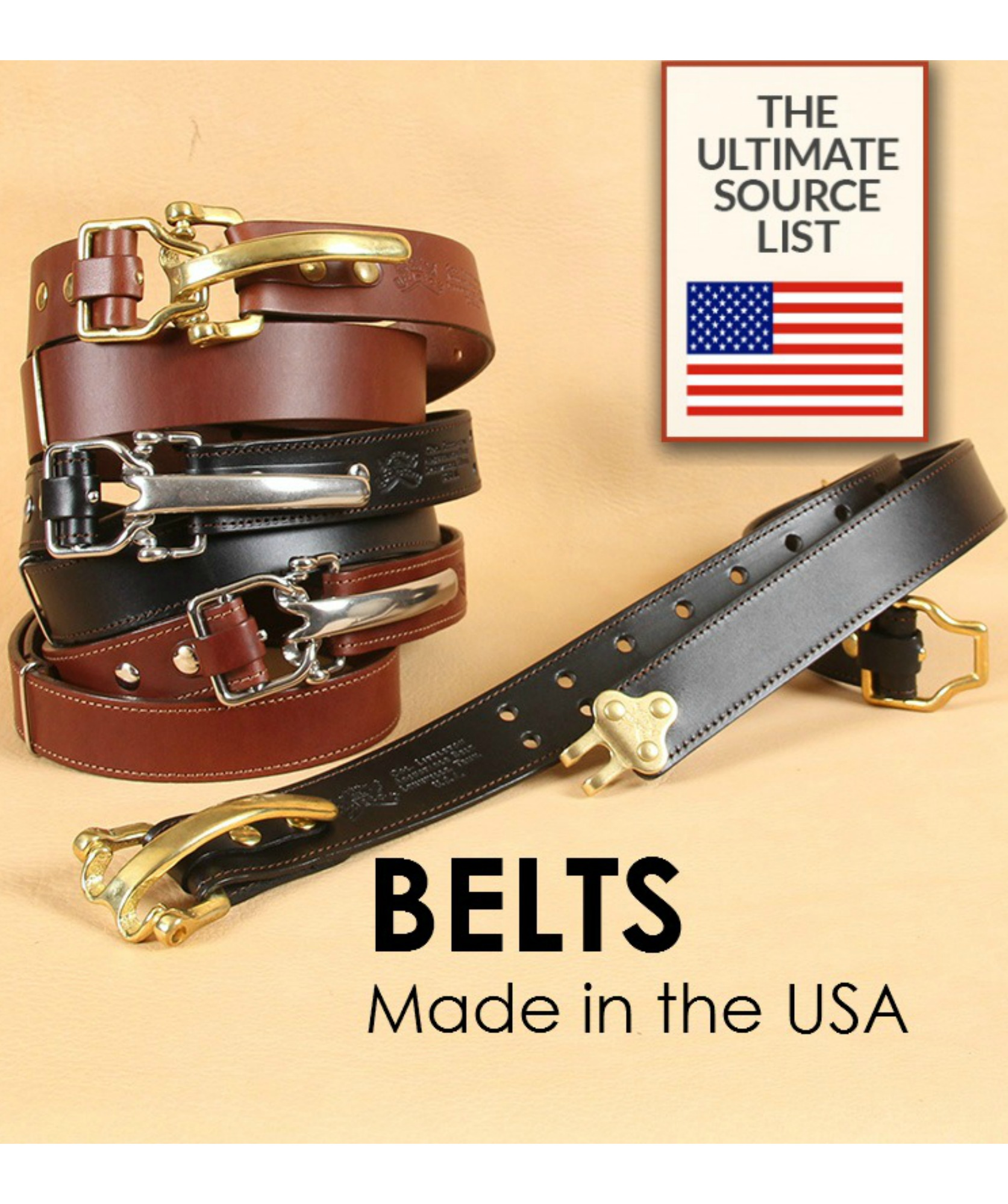 Buy belts made in the USA