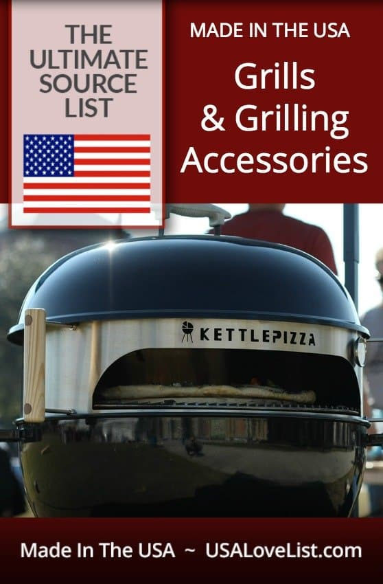 Check out this source guide for the best American made gas, wood pellet, and charcoal grills and grilling accessories | Made in USA Grills #usalovelisted #grilling