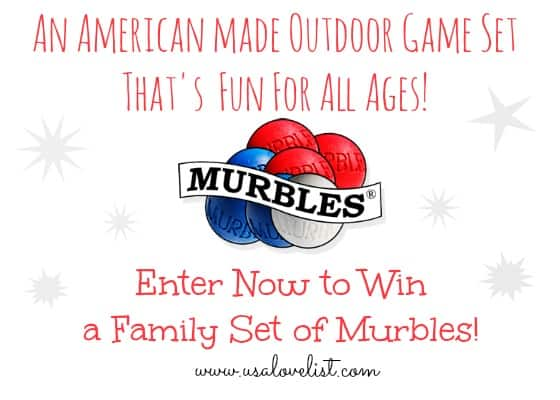 An American Made Outdoor Game Set That's fun for all ages! Enter to win a Family set of Murbles