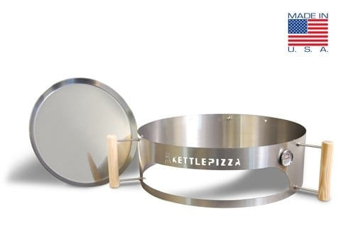Turn your kettle grill into a wood fired pizza oven with KettlePizza Basic Outdoor Pizza Oven Kit | Made in USA