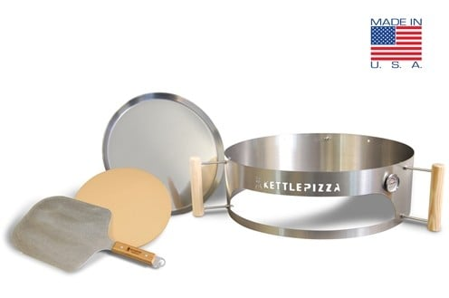 Make perfectly cooked wood fried pizza with the Kettle Pizza Deluxe Pizza Oven Kit   Made in USA