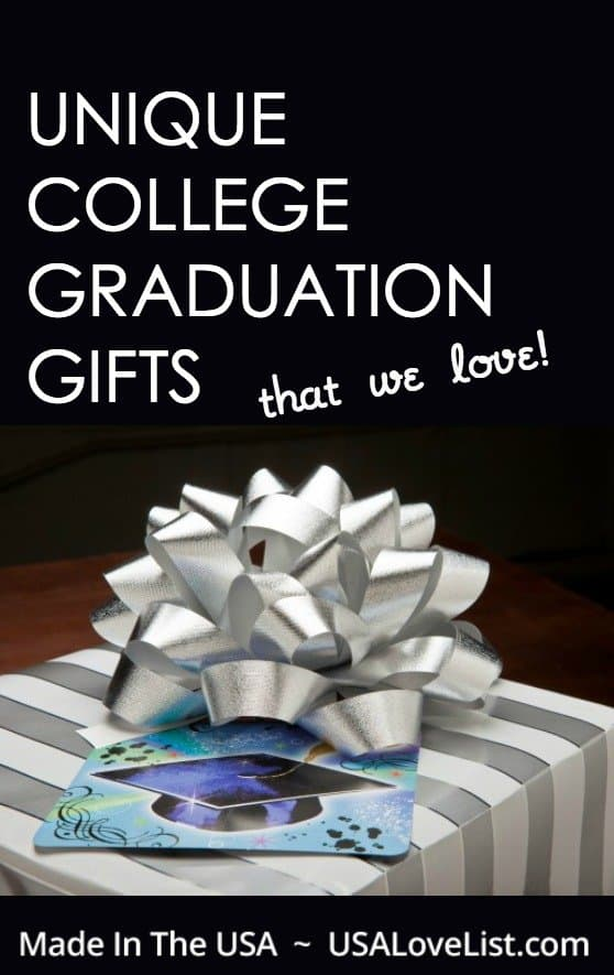 Unique College Graduation gifts that we love, all American made