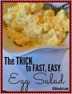 The best trick for fast, easy egg salad
