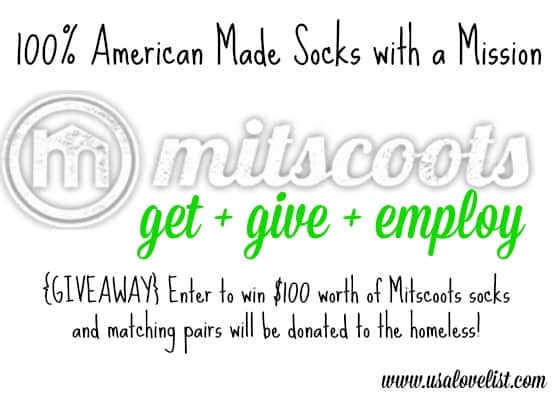 Get+Give+Employ: Mitscoots Socks are Socks With A Mission! {GIVEAWAY}