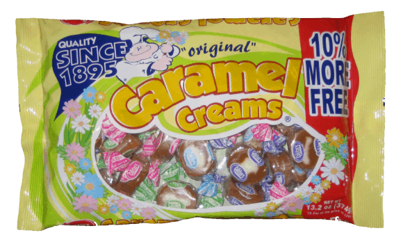 Easter egg hunt candy- Spring Caramel Creams