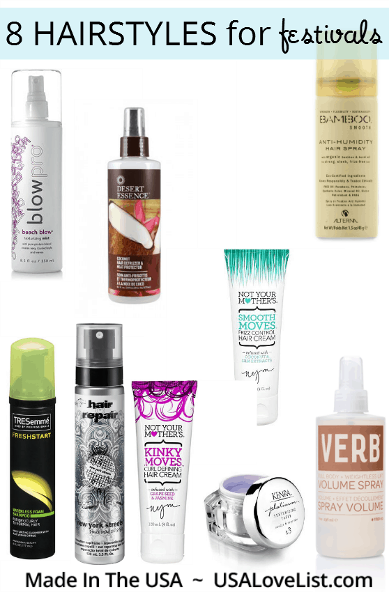 8 summer hairstyles for festivals   American made hair products
