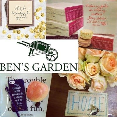 Giveaway: Ben's Garden American Made Entertaining Essentials