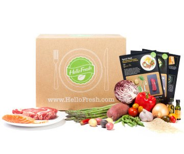HelloFresh farm fresh ingredients + easy to follow recipes