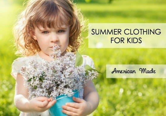 American made summer clothing for kids