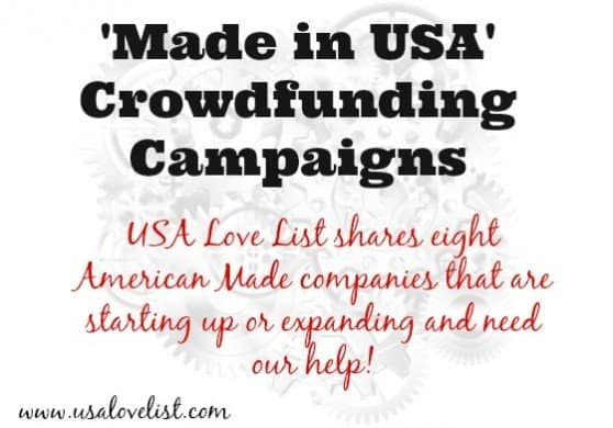 "'Made In USA"" Crowdfunding campaigns"