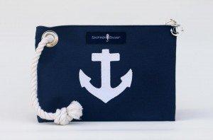 navy wristlet