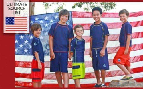 Swimwear for kids made in USA