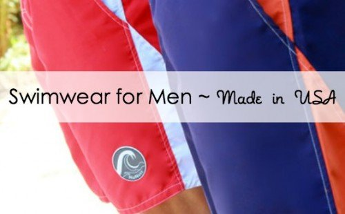 Swimwear for men made in the USA