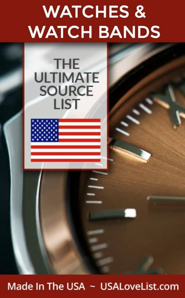 Made in USA Watches and Watch Bands via USA Love List