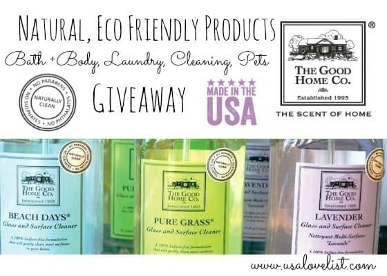 The Scent of Home: The Good Home Co. Natural, Eco Friendly Products {Giveaway}