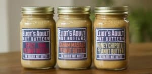 Unique Peanut Butter Blends From Eliot's Adult Nut Butters via USALoveList.com