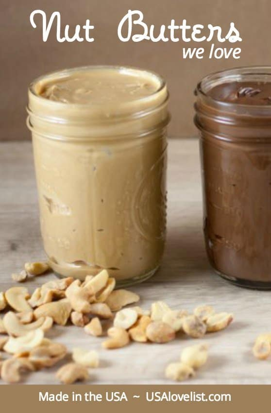 Unique flavors of nut butters, all American made, all delish! via USAlovelist.com